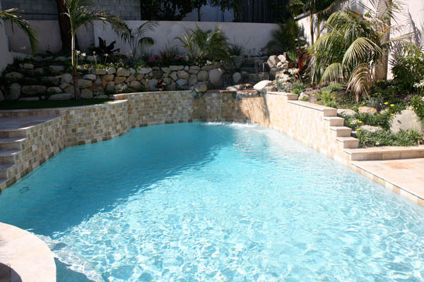 swimming pool in-ground water feature