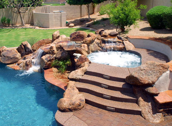swimming pool spa water feature