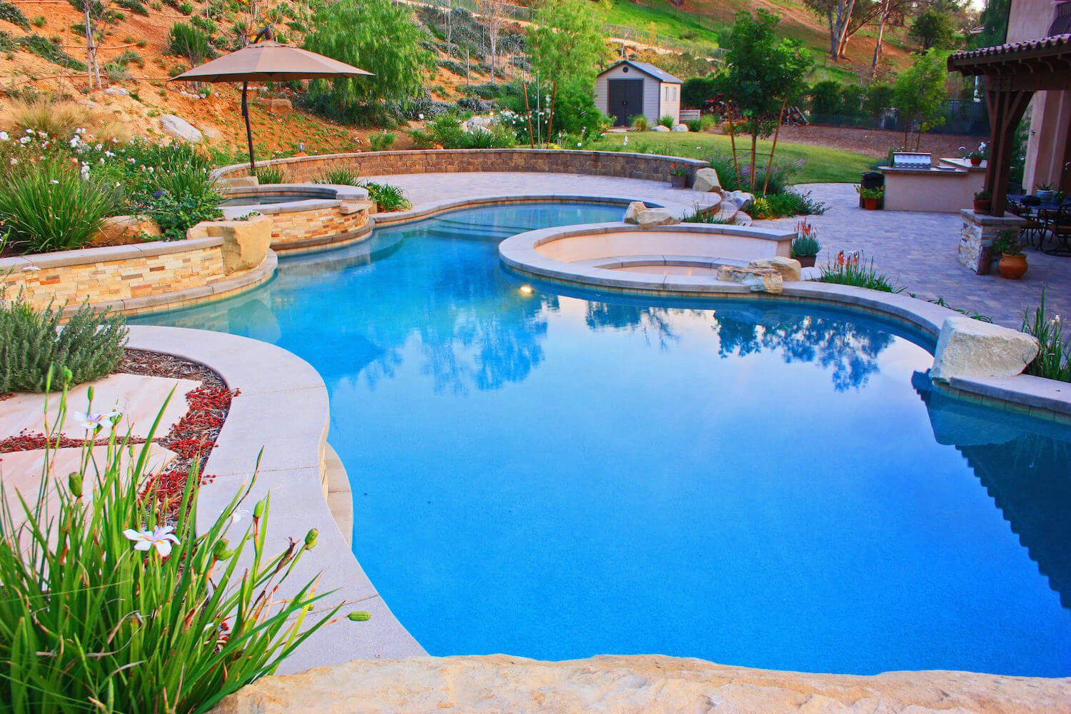Gallery southern california swimming pools for Types of inground pools