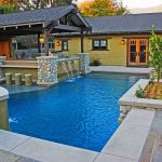 Beautiful Pool with Asian Type House Backdrop