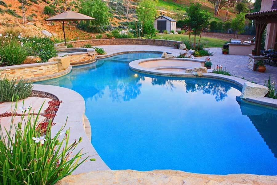 Types of pools southern california swimming pools for Pool garden mountain resort argao