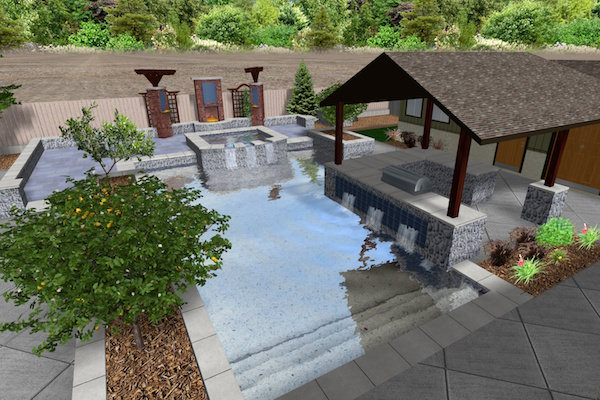 Pool Design Computer Rendering